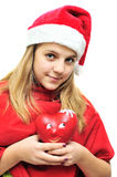 Teen santa Stock Photography