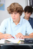 Teen at school Stock Images