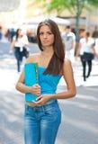 Teen schoolgirl Stock Photo