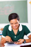 Teen schoolgirl tablet Royalty Free Stock Photography