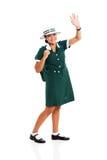 Teen schoolgirl waving Stock Images