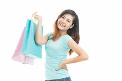 Teen shopper Royalty Free Stock Photos