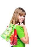 Teen after shopping Royalty Free Stock Image