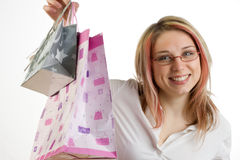 Teen with shopping bags Stock Photo