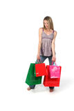 Teen with shopping bags Stock Photos