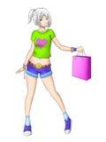 Teen shopping girl Stock Photo