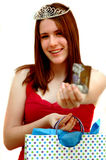 Teen Shopping Queen Stock Photography