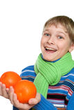 Teen Shows oranges Royalty Free Stock Photography