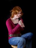Teen singing Royalty Free Stock Image
