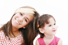 Teen sister and baby sister Royalty Free Stock Photography