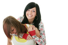 Teen sisters stock photo