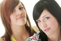 Teen sisters royalty free stock photos