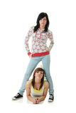 Teen sisters Royalty Free Stock Photo