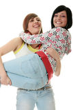 Teen sisters stock images