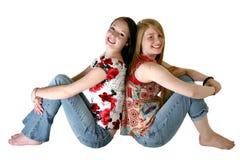 Teen Sisters stock image