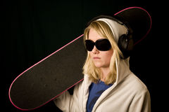 Teen skateboard Stock Photography