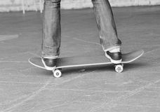 Teen skateboarder on board Stock Images
