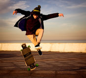 Teen skateboarder Royalty Free Stock Photos