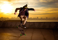 Teen skateboarder Stock Photos
