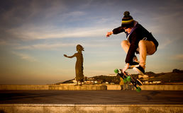 Teen skateboarder Stock Photography