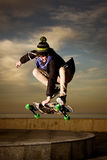 Teen skateboarder Royalty Free Stock Images