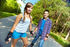 Teen skaters Stock Images