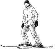 Teen skiing Royalty Free Stock Photography