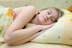 Teen sleeps Royalty Free Stock Photo