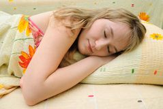 Teen sleeps Stock Image