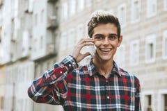 Teen on smartphone Royalty Free Stock Photo