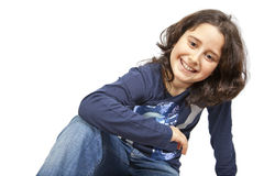 Teen smiling royalty free stock image