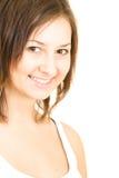Teen smiling girl. Smiling caucasian brunette teen girl Stock Photos