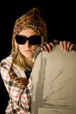 Teen snowboard Royalty Free Stock Photo
