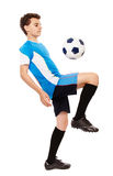 Teen soccer player Royalty Free Stock Image