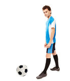 Teen soccer player Stock Image