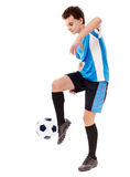 Teen soccer player Stock Images