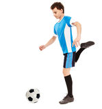 Teen soccer player Royalty Free Stock Images