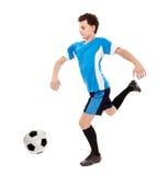 Teen soccer player stock image