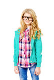 Teen in spectacles Royalty Free Stock Image