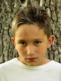 Teen staring royalty free stock photo