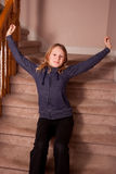 Teen stretching Stock Images