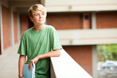 Teen student. High school teen student daydreaming Royalty Free Stock Photo