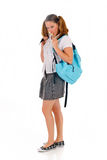 Teen student backpack lollipop Stock Image
