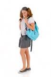 Teen student backpack lollipop Stock Image