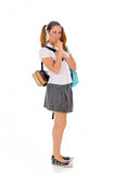 Teen student backpack lollipop Stock Photos
