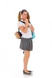 Teen student backpack lollipop Stock Photos
