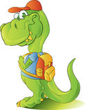 Teen student dinosaur Stock Photography