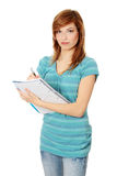 Teen student girl royalty free stock image