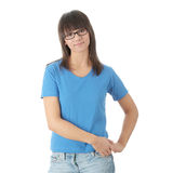 Teen student girl in glasses Stock Photography