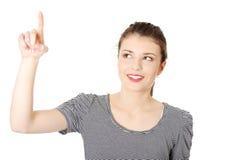 Teen student girl making choose Stock Photography